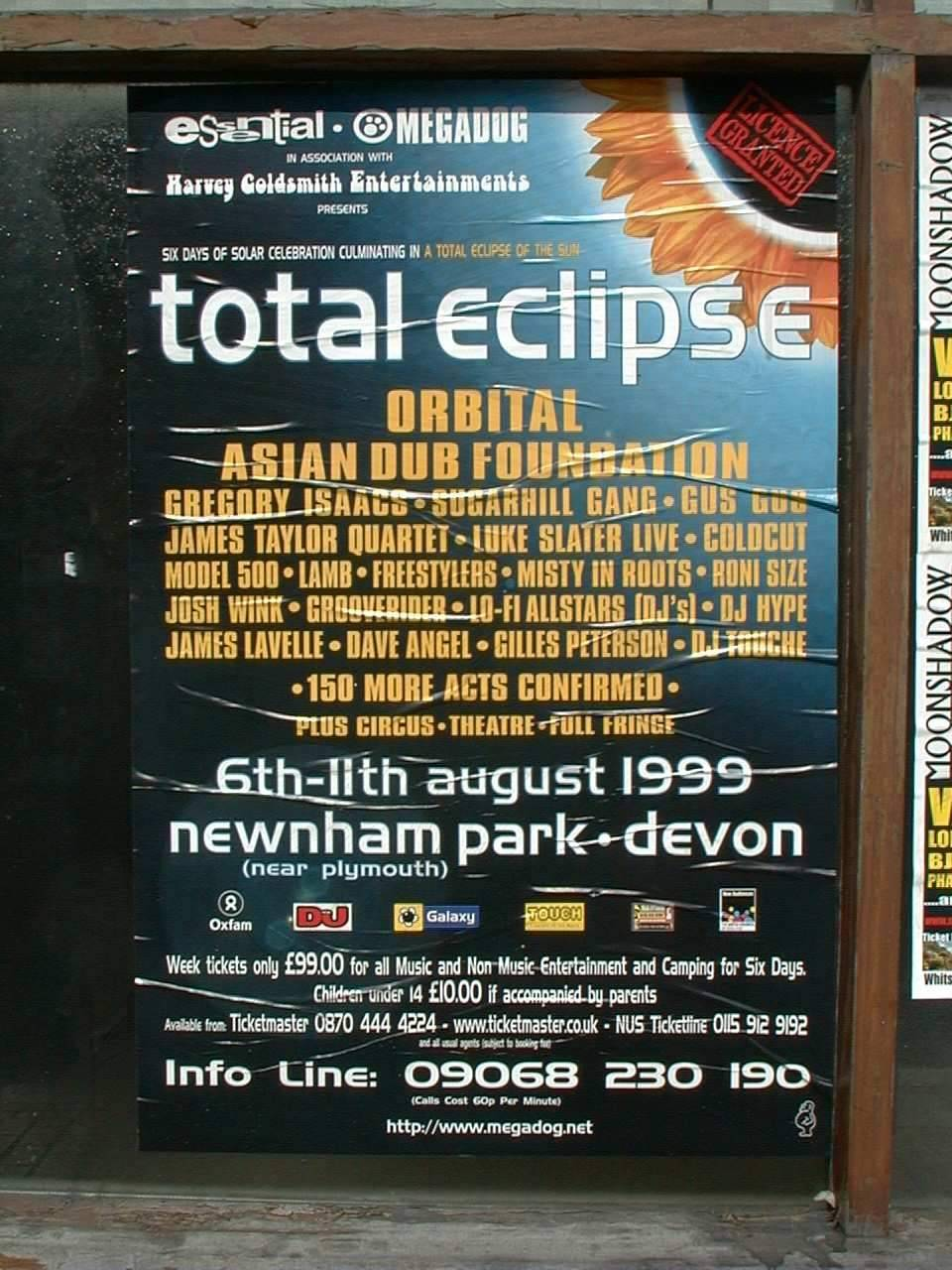Plymouth Total Solar Eclipse England 1999