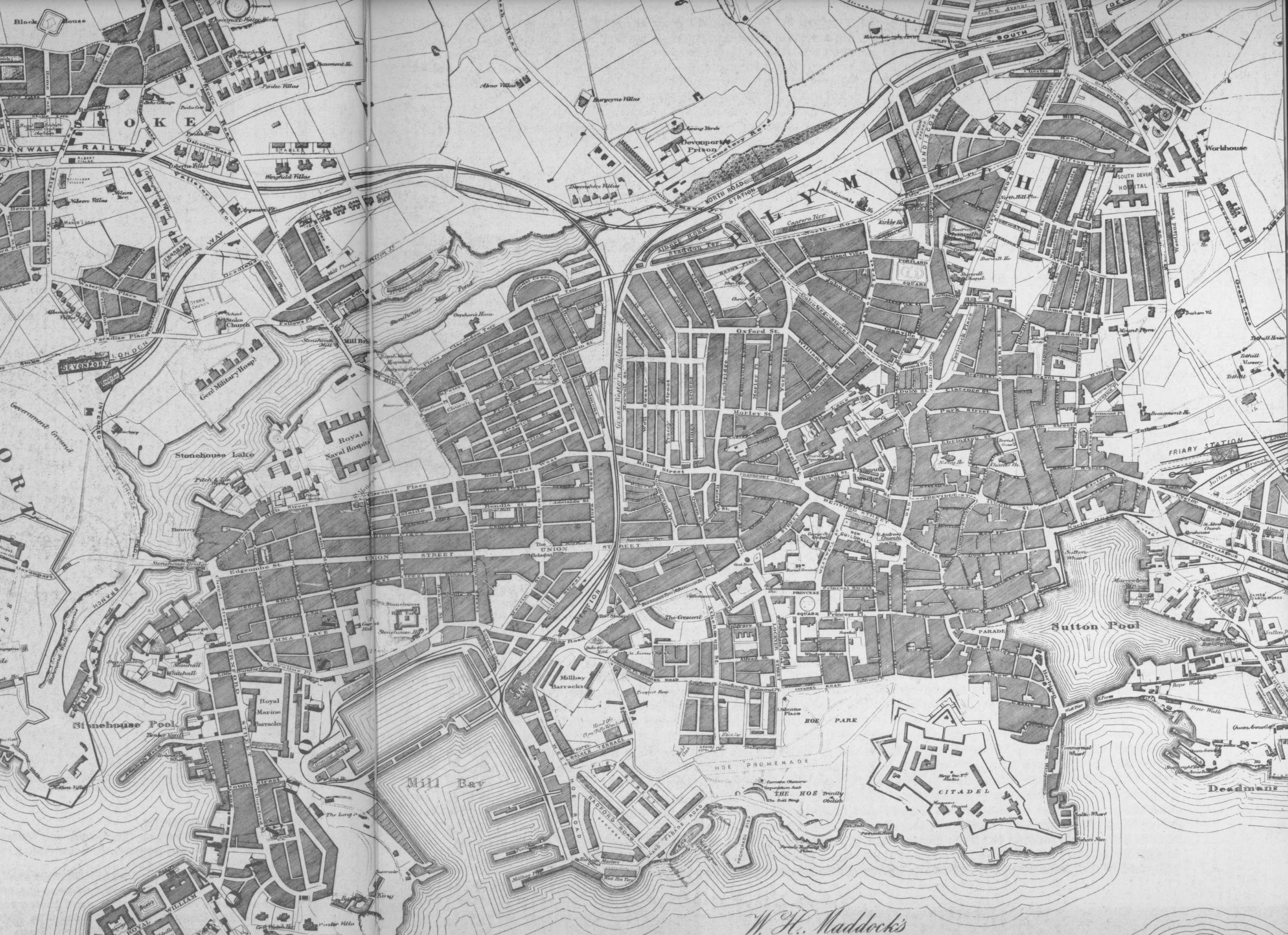 Map Of England Plymouth.Old Maps Of Plymouth England