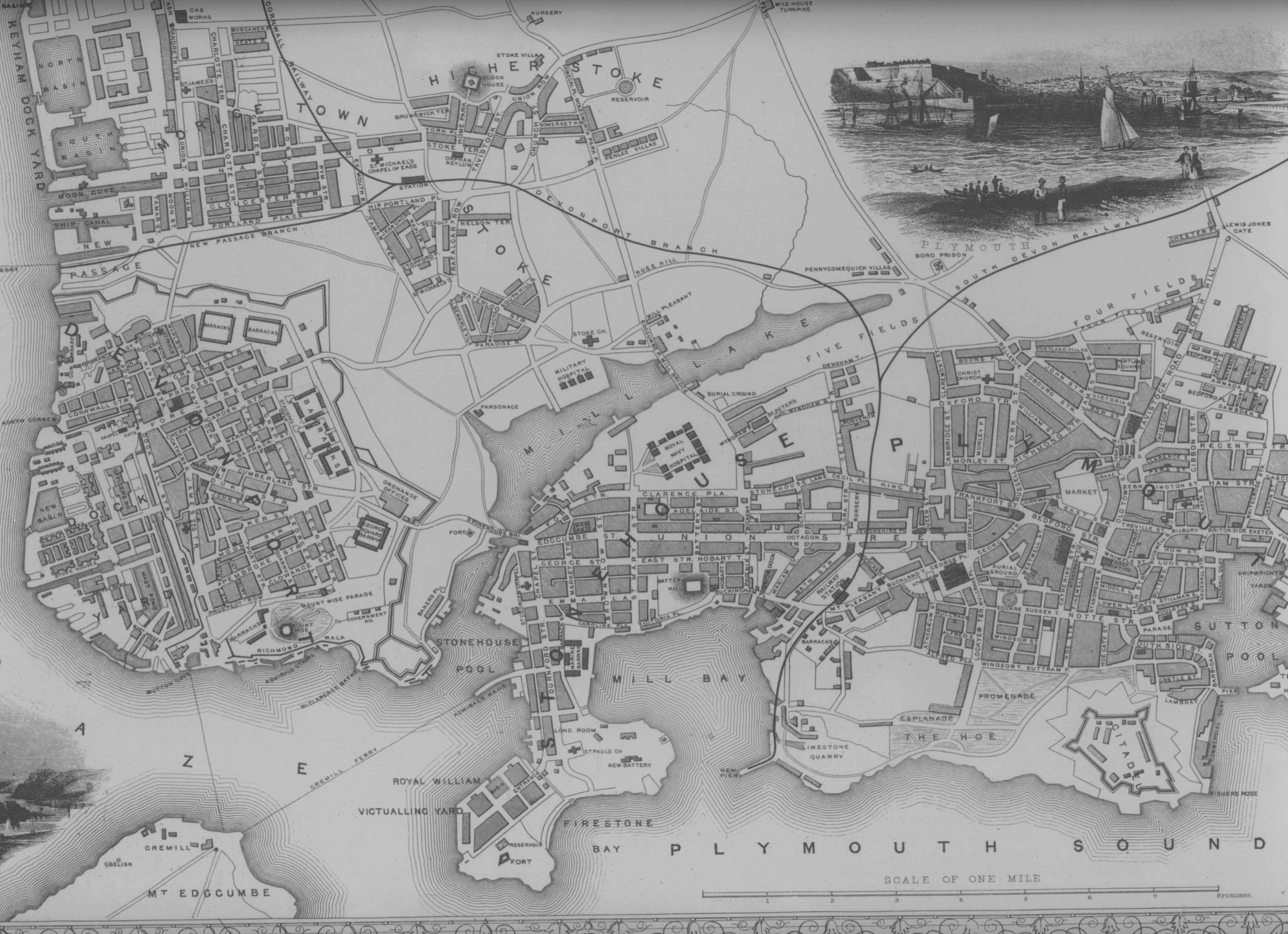 Old Maps Of Plymouth England